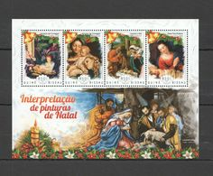 ST1112 2014 GUINEA-BISSAU ART PAINTINGS CHRISTMAS NATAL KB MNH - Religious