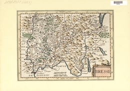 Landkarten Und Stiche: 1734. Map Of Bresse Region Of France Up To Lac Lemans In Switzerland. From Th - Geographie