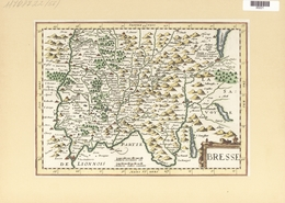 Landkarten Und Stiche: 1734. Bresse. Map Of The Bresse, Burgundy Region Of France, Published In The - Geographie