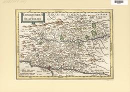 Landkarten Und Stiche: 1734. Lionnois Forest Et Beauviolois. Map Of The Burgundy Region Of France, P - Geographie