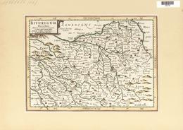 Landkarten Und Stiche: 1734. Biturgium Ducatus. Map Of The Bordeaux Region Of France, Published In T - Geographie