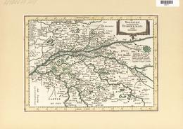 Landkarten Und Stiche: 1734. Touraine / Turonensis Ducatus. Map Of The Duchy Of Tours Region Of Fran - Geographie