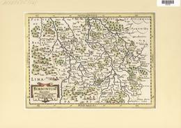 Landkarten Und Stiche: 1734. Borbonium Ducatus. Map Of The Bourbon Region Of France, Published In Th - Geographie