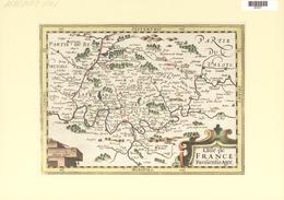 Landkarten Und Stiche: 1734. L'Isle De France/ Parisiensis Ager. Map Of The Region Of France Around - Geographie