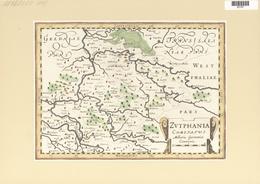 Landkarten Und Stiche: 1734. Zutphania Comitatus, By Gerardus Mercator Ca 1633, Published In His Atl - Geographie