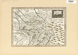 Landkarten Und Stiche: 1734. Totius Lemouici Com Limousin From The Mercator Atlas Minor Ca 1648, Lat - Geographie
