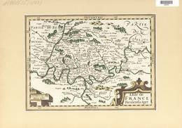Landkarten Und Stiche: 1648/1734. Map Of The Region L'Isle De France, Region Around Paris. From The - Geographie