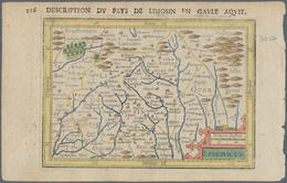 Landkarten Und Stiche: 1610. Lemovicum, Description Du Pays De Limosin En Gaule Aquit. Attractive Sm - Geographie