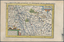 Landkarten Und Stiche: 1610. Anjou Et Lemaine, Descrit Des Andegav Et Cenoman En La Gaule Lugd. Bert - Geographie