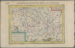 Landkarten Und Stiche: 1610. Biturgum Borbonium Et Turena In Gallia Aqui. Bertius, Petrus. Attractiv - Geographie