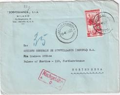ITALIE 1953 LETTRE DE MILANO - 6. 1946-.. Republik