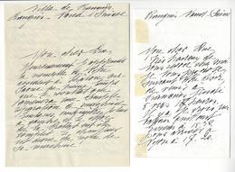 Prince Louis Bonaparte (1864-1932) 2 LAS PRANGINS SUISSE AUTOGRAPHE AUTOGRAPH ARMEE RUSSE /FREE SHIP. R - Autographes