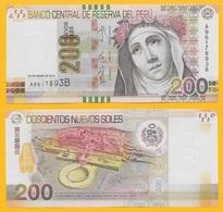 Peru 200 Nuevos Soles P-186 2012 UNC Banknote - Pérou