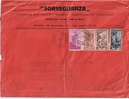 ITALIE 1956 LETTRE DE MILANO - 6. 1946-.. Repubblica