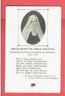 IMAGE PIEUSE RELIQUAIRE RELIQUE DE SOEUR MARIE DE JESUS CRUCIFIE RELIGIEUSE CONVERSE DU CARMEL DE BETHLEEM 1846 1878 - Religione & Esoterismo