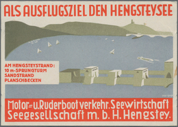 Ansichtskarten: Nordrhein-Westfalen: ESSEN (alte PLZ 4300), Plakative Künstlerwerbekarte Hengsteysee - Duitsland