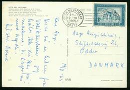 Br Vatican City Postcard Sent To Denmark | Citta Del Vaticano 19.7.1965 - Vatican