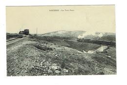 CHER 18 SANCERRE Les Trois Ponts - Train Ferroviaire Gare Belle Carte - Sancerre