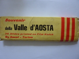 Souvenir Della Valle D'Aosta 36 Slides Printed On Film Kodak By Sacat - Torino Anni '60 - Diapositive
