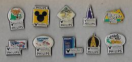 Lot De 10 Pins PHILIPS -  Série EuroDisney - Pin's