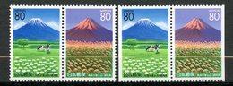 Japan, Yvert 2323&2324+2323a&2324a, MNH - 1989-... Empereur Akihito (Ere Heisei)
