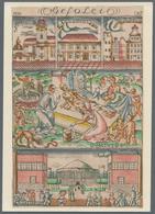 """Ansichtskarten: Nordrhein-Westfalen: DÜSSELDORF (alte PLZ 4000), """"GESOLEI 1926"""", 7 Ungebrauchte Küns - Duitsland"""