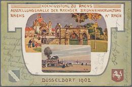 Ansichtskarten: Nordrhein-Westfalen: DÜSSELDORF, MÖNCHENGLADBACH, DUISBURG, KREFELD Jeweils Mit Umge - Duitsland