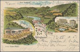 Ansichtskarten: Nordrhein-Westfalen: ESSEN (alte PLZ 4300), Prachtvolle Partie Mit über 130 Historis - Duitsland