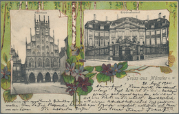 Ansichtskarten: Nordrhein-Westfalen: MÜNSTER Und MÜNSTERLAND (alte PLZ 44), Schachtel Mit Gut 100 Al - Duitsland