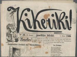 Varia (im Ansichtskartenkatalog): ZEITSCHRIFTEN, 39 Ausgaben Der Wiener Satirezeitschrift KIKERIKI M - Andere Sammlungen