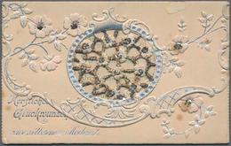 Varia (im Ansichtskartenkatalog): GLÜCKWUNSCHKÄRTCHEN, Schachtel Mit über 150 Dekorative Historische - Andere Sammlungen