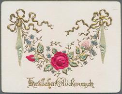 Varia (im Ansichtskartenkatalog): GLÜCKWUNSCHKÄRTCHEN / HERZLICHEN GLÜCKWUNSCH, 48 Dekorative Histor - Andere Sammlungen