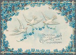 Varia (im Ansichtskartenkatalog): LUXUSPAPIER, Dekorativer Bestand An Gut 140 Glückwunsch-Einlagekar - Andere Sammlungen