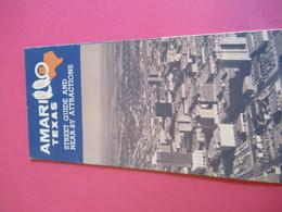 Plan De Ville/ AMARILLO Map & Street Guide/ And Near-by Attractions/ TEXAS/ U.S.A./ Vers 1960   PGC281 - Dépliants Touristiques