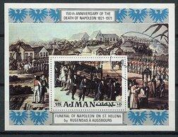 (B 16) Ajman Ob Michel Bloc 323 A - Funérailles De Napoléon - - Ajman