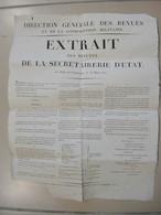 AFFICHE CONSCRIPTION MILITAIRE COMPIEGNE 1810 AMNISTIE A L'OCCASION DU MARIAGE DE NAPOLEON 1er - Decretos & Leyes