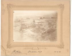 TOP - Photo Sur Carton - BRESSOUX 1875 ( Liège )  - Charbonnage, Charbonnages, Mine, Houillère (po1) - Places