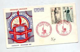 Lettre Fdc 1963 Bordeaux Croix Rouge - FDC