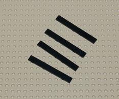 Lego Lot 4x Tile 1x8 Noir Ref 4162 - Lego Technic