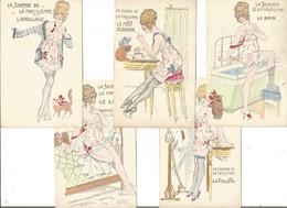 St22/    Illustrateur      Les Femmes    La Journée De La Parisienne   5 Cpa - Cartes Postales