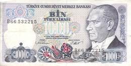 1000 Türk Lira Banknote Türkei VF/F (III) 1970 - Turchia