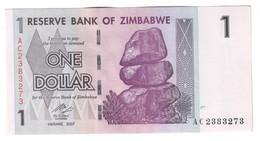 Zimbabwe 1 Dollar 2007 UNC - Zimbabwe