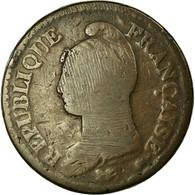 Monnaie, France, Dupré, Decime, 1796, Lyon, B+, Bronze, Gadoury:187, KM:645.5 - France