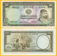 Portuguese Guinea 50 Escudos P-44a(2) 1971 UNC Banknote - Billetes