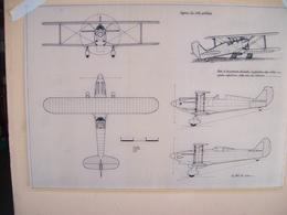 DISEGNO SU CARTA DA LUCIDO AEREO CAPRONI 165 Prototipo - Technical Plans