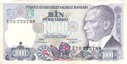 1000 Türk Lira Banknote Türkei VF/F (III) 1970 - Türkei