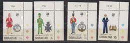 Gibraltar 1972 Uniforms 4v (corners)** Mnh (42901A) - Gibraltar
