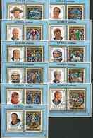(B 16- Lot 31) Ajman Ob Lot De 11 Mini-blocs - Personnages Célèbres. Signes Du Zodiaque - - Ajman