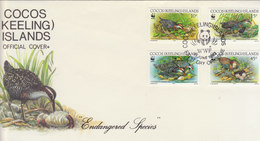 COCOS(KEELING ISLAND) 1992 WWF FDC  With RAIL.Local Issue. - FDC