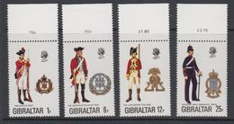Gibraltar 1976 Uniforms 4v (margin) ** Mnh (42901D) - Gibraltar